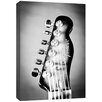 Doodlefish Photography Electric Guitar Headstock Wrapped Photographic Print on Canvas