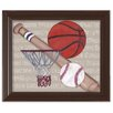 Doodlefish Sports Team Player Framed Art