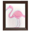 Doodlefish Sea Creatures Fiona the Flamingo Framed Art