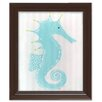 Doodlefish Sea Creatures Stormy the Seahorse Framed Art