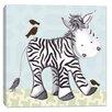 Doodlefish Jungle Zach Zebra Canvas Art