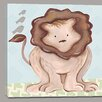 Doodlefish Jungle Liam Lion Canvas Art