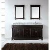 "Virtu Huntshire 72"" Double Bathroom Vanity Set with Mirror"