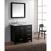 """Virtu Caroline Avenue 36"""" Single Bathroom Vanity Set with Mirror"""