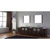 "Virtu Dior 125"" Double Bathroom Vanity Set with Mirror"