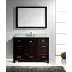 """Virtu Caroline Avenue 49"""" Single Bathroom Vanity Set with Mirror"""