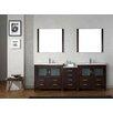 "Virtu Dior 90"" Double Bathroom Vanity Set with Mirror"