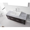 "Virtu Ultra Modern Series 56"" Single Bathroom Vanity Set with Mirror"