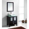 """Virtu Brentford Series 27"""" Single Bathroom Vanity Set with Mirror"""