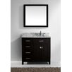 "Virtu Caroline Parkway 36"" Single Bathroom Vanity Set with Mirror"