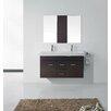 """Virtu Ultra Modern Series 48"""" Double Bathroom Vanity Set with Mirror"""
