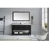 "Virtu Caroline Estate 61"" Double Bathroom Vanity Set with Mirror"