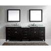 "Virtu Caroline Parkway 93"" Double Bathroom Vanity Set with Mirror"