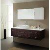 """Virtu Ultra Modern Series 59"""" Single Bathroom Vanity Set with Mirror"""