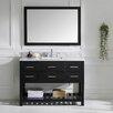 """Virtu Caroline Estate 49"""" Single Bathroom Vanity Set with Mirror"""