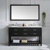 "Virtu Caroline Estate 61"" Double Bathroom Vanity Set with Mirror"