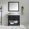 """Virtu Caroline Estate 37"""" Single Bathroom Vanity Set with Mirror"""