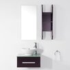 "Virtu Ultra Modern Series 24"" Single Bathroom Vanity Set with Mirror"