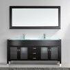 """Virtu Ultra Modern Series 71"""" Double Bathroom Vanity Set with Mirror"""