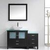 """Virtu Brentford Series 54"""" Single Bathroom Vanity Set with Mirror"""