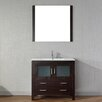 "Virtu Dior 36"" Single Bathroom Vanity Set with Mirror"