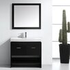 """Virtu Gloria 35"""" Single Bathroom Vanity Set with Mirror"""