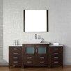 "Virtu Dior 66"" Single Bathroom Vanity Set with Mirror II"