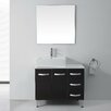 "Virtu Ultra Modern Series 37"" Single Bathroom Vanity Set with Mirror"