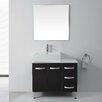 """Virtu Ultra Modern Series 37"""" Single Bathroom Vanity Set with Mirror"""