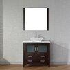 "Virtu Dior 37"" Single Bathroom Vanity Set with Mirror"