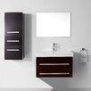 """Virtu Ultra Modern Series 29"""" Single Bathroom Vanity Set with Mirror"""