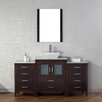 "Virtu Dior 64"" Single Bathroom Vanity Set with Mirror"
