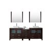 "Virtu Dior 91"" Double Bathroom Vanity Set with Mirror"