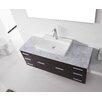"""Virtu Ultra Modern Series 56"""" Single Bathroom Vanity Set with Mirror"""
