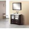 "Virtu Felice 35"" Single Bathroom Vanity Set with Mirror"