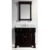 "Virtu Huntshire 36"" Single Bathroom Vanity Set with Mirror"