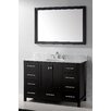 "Virtu Caroline Avenue 48"" Single Bathroom Vanity Set with Mirror"