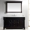 "Virtu Huntshire 59"" Single Bathroom Vanity Set with Mirror"
