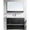 """Virtu Gloria 47"""" Single Bathroom Vanity Set with Mirror"""