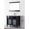 "Virtu Ultra Modern Series 36"" Single Bathroom Vanity Set with Mirror"