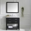 "Virtu Caroline Estate 37"" Single Bathroom Vanity Set with Mirror"