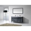 "Virtu Ava 63"" Double Bathroom Vanity Set with Mirror"