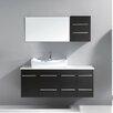 """Virtu Marsala 55"""" Single Bathroom Vanity Set with Mirror"""