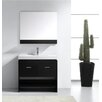 "Virtu Gloria 35"" Single Bathroom Vanity Set with Mirror"