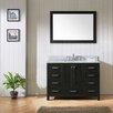 "Virtu Caroline Avenue 48"" Single Bathroom Vanity Set with Ceramic and Mirror"