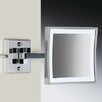 Windisch by Nameeks Wall Mounted 3X Magnifying LED Mirror with Direct Wired Two Arm and Switch