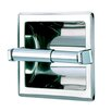 Geesa by Nameeks Standard Hotel Single Recessed Toilet Paper Holder in Stainless Steel