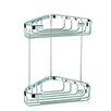 Geesa by Nameeks Basket Double Medium Corner Shower Basket in Chrome