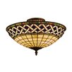 Landmark Lighting Angel Wing 3 Light Outdoor Semi-Flush Mount