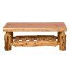 Fireside Lodge Traditional Cedar Log Coffee Table